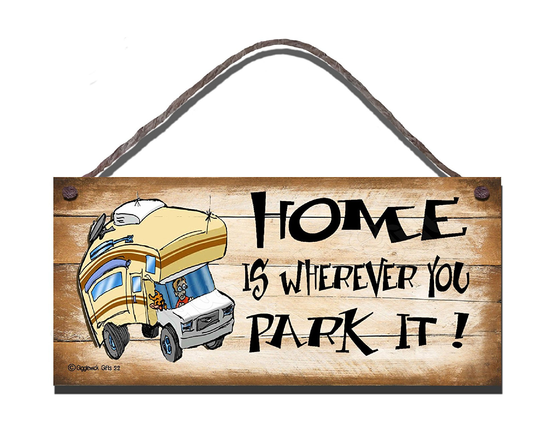 MOTORHOME S22 [WOODEN SIGN S22