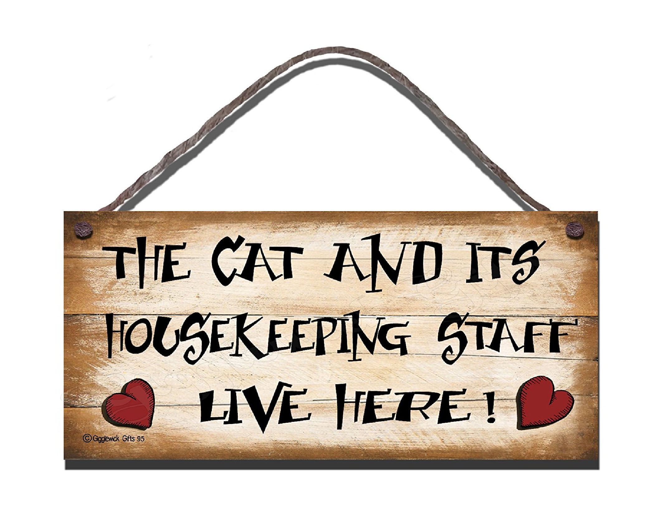 Cats Staff S95 Wooden Sign S95 197 Gigglewick Gifts Funny