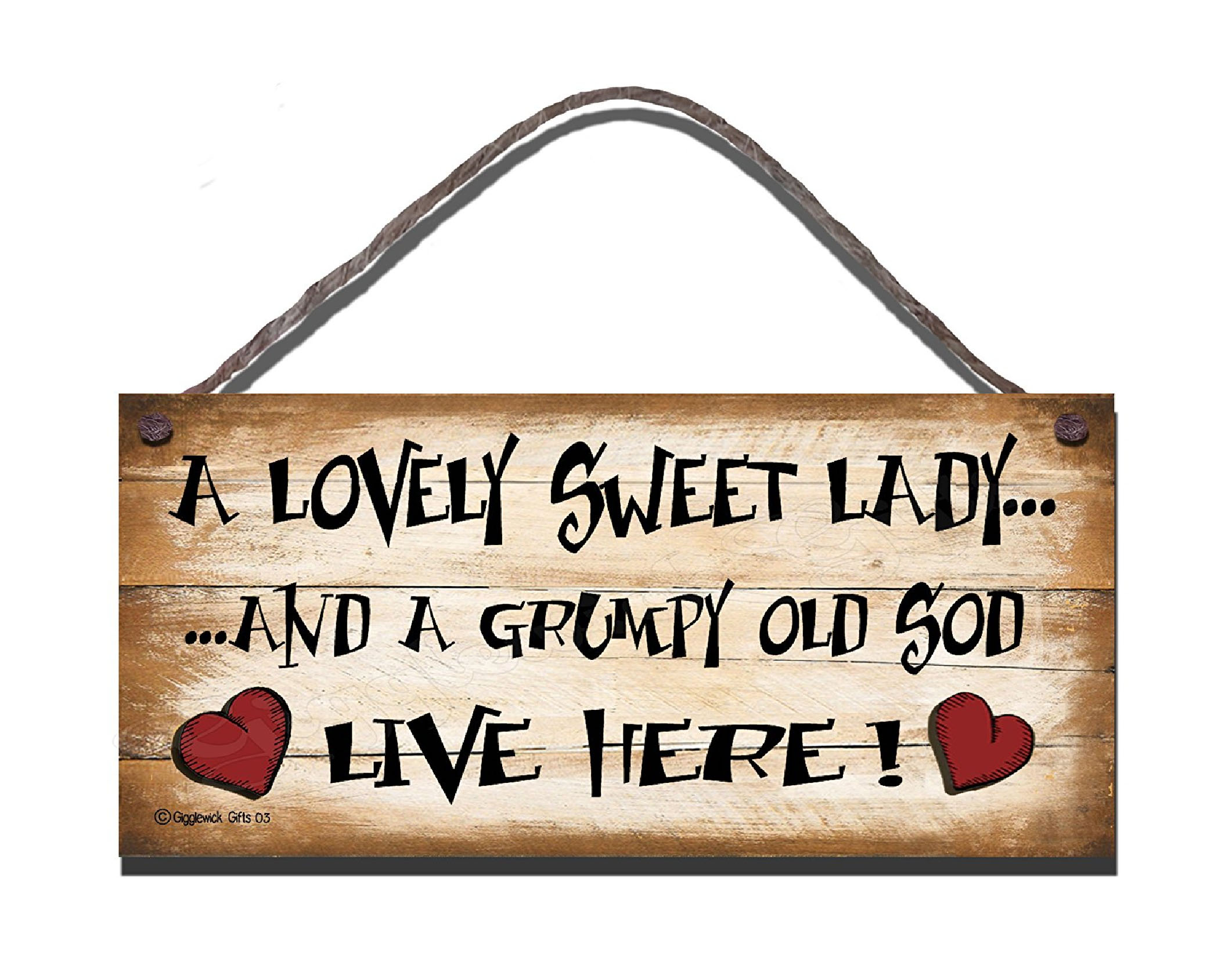 Grumpy S40 Wooden Sign S40 3 50 Gigglewick Gifts Funny