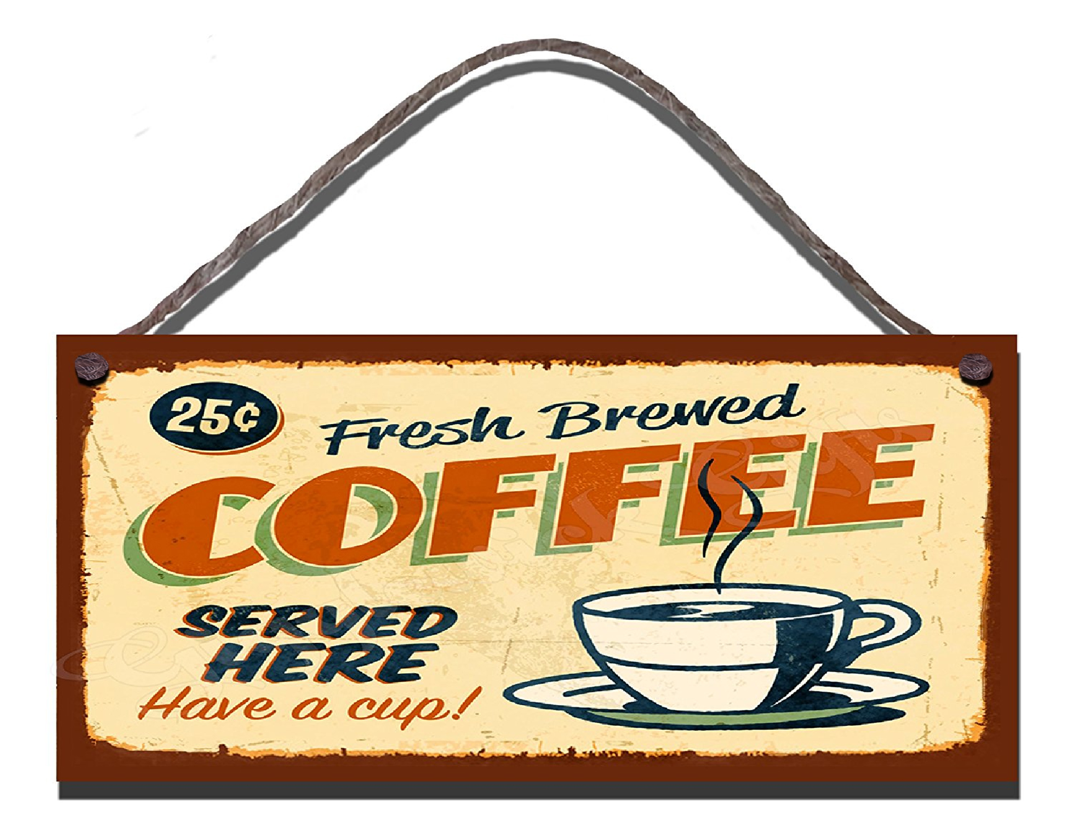 Fresh Brewed Coffee Served Here